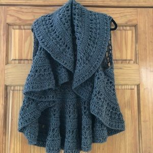 Anthropologie Sweater crochet sweater J&X NY